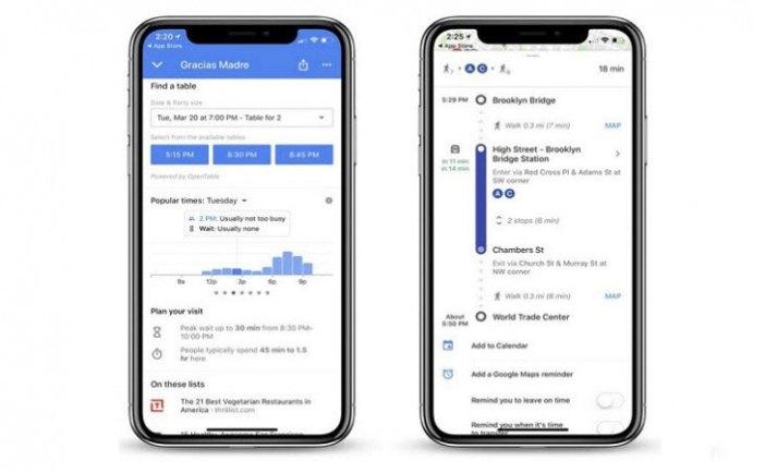 Ahora, en la pantalla de nuestro móvil, la app actualizada en versión iOs de Google Maps nos mostrará varios parámetros: cuál es la franja horaria de la hora punta, el promedio de tiempo de espera habitual a una determinada hora y, ¡novedad!, cuál es el tiempo máximo de espera en ese momento.