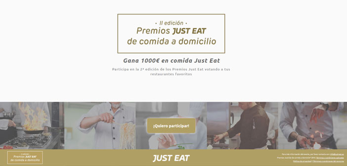 Just Eat has announced the second edition of the Awards Food Delivery in Spain. The aim of these awards is to recognize the effort and give visibility to the restaurants offering their food home to adapt to the new digital consumer. Users can now vote for their favorite establishment in the microsite premiosjusteat.com