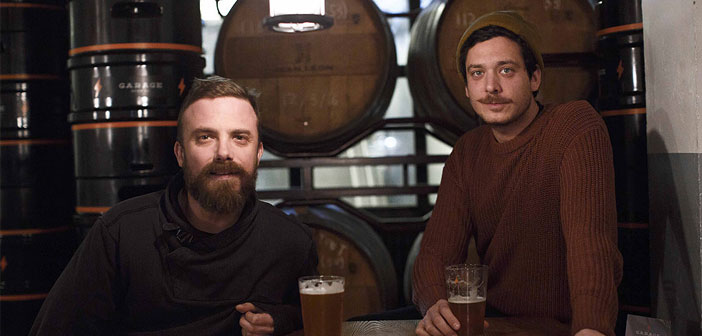 Alberto y Zamborlin James Welsh, los fondateurs de Garage Beer Co.