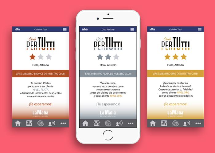 Para beneficiarse de Pertutti, hay que descargarse la nueva app gratuita de La Mafia se sienta en la mesa o, para aquellos que ya tenían la anterior, actualizarla. La tarjeta es exclusivamente digital y gratuita.