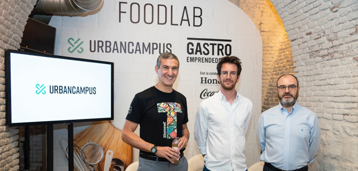 Seth Goldman (founder of Honest®), Maxime Armand (COO Urban Campus) and José Luis Cabañero (CEO and founder of Eatable Adventures).