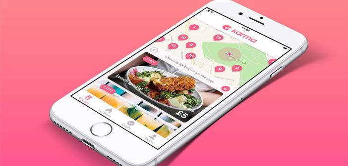 Con la información de geolocalización, Karma presenta en pantalla los restaurantes participantes que se encuentran cerca del usuario del terminal móvil. Esto se consigue fácilmente gracias a la integración del sistema GPS del teléfono y del mapa que aparece en pantalla.