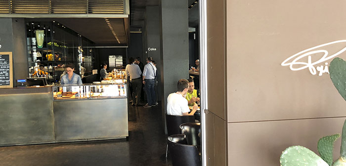 created ago 30 years in Milan, He is just associated with Starbucks. I met this concept in London's Soho and loved. Fast casual concept with high quality product and craftsmanship. do not stop visiting your local Flagship Milan in Piazza XXV Aprile.