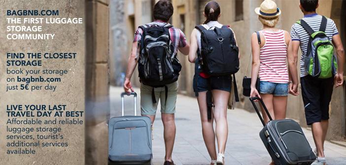 Los turistas que no quieren dejar su equipaje desatendido están de enhorabuena ya que, a semejanza de Airbnb, Bagbnb es un servicio de consignas que permite alquilar espacios para el cuidado de maletas, mochilas y bolsas de viaje.