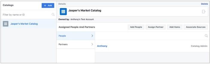 Gérer les catalogues de Business Manager