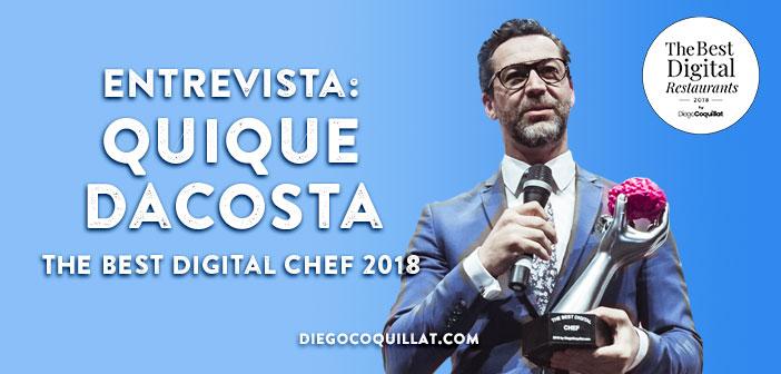 Quique Dacosta, a quien conoces entre otras cosas por haber ganado el premio Best Digital Chef en la I edición de los TheBestDigitalRestaurants by Diego Coquillat. Como dije al inicio de la ponencia-entrevista, sin rentabilidad y sin gestión no hay negocio. Y la Gestión abarca todos los ámbitos del restaurante.