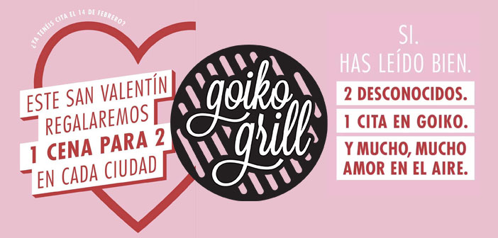 Frill goiko has done a promotion through Instagram Stories in which raffled 12 dinner for Valentine. Winners will be a couple of strangers who enjoy a Blind Date