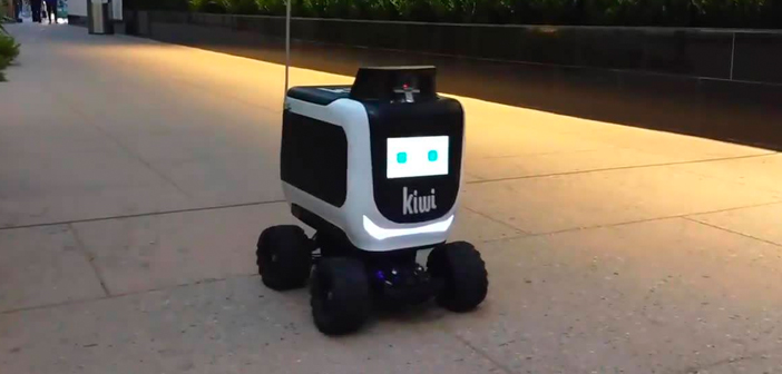 For example, the small KiwiBot is responsible for making the last leg, discoursing for it on the sidewalks of the city in the company of passers. It is equipped with a small rolling chassis module reminiscent of a miniature SUV.