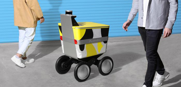 Servir dans le cas de Postmates, le dernier dans le secteur, le modèle rappelle plus d'un buggy bébé.