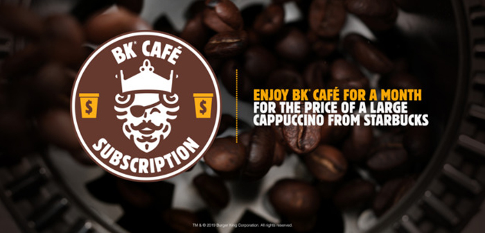What brings this subscription? To pay five dollars the right to consume free coffee is obtained in establishments Burger King. It is not an offer for unlimited consumption, the user can approach your nearest local once a day to take full advantage of the offer.