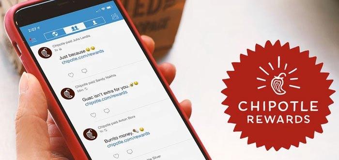 Chipotle Rewards: la nueva app móvil de Chipotle con programa de fidelización de clientela integrado Chipotle Rewards, el programa de fidelización de cliente mediante la ultrapersonalización