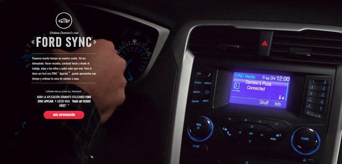 Commander des plates-formes en ligne intégrées dans les voitures sont un engagement à l'avenir. La première fois est apparu la main de Domino était 2014 et affecté les voitures Ford Motor qui ont le système Ford SYNC AppLink.