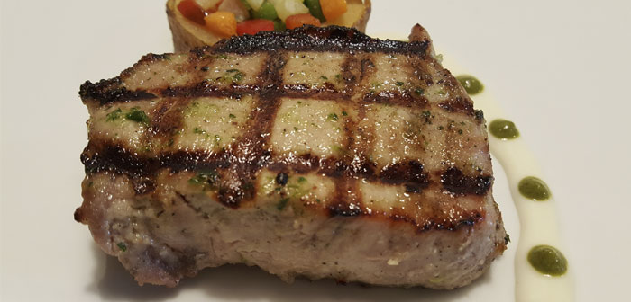 Iberian loin grilled tournedos
