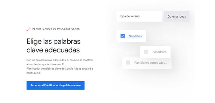 Planner Google Keyword Ads