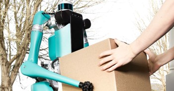 Ford prepara un robot bípedo de reparto de comida a domicilio único en el mercado