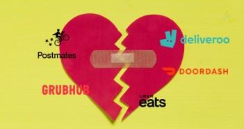 La relación entre restaurantes y empresas de reparto de comida a domicilio se enfría