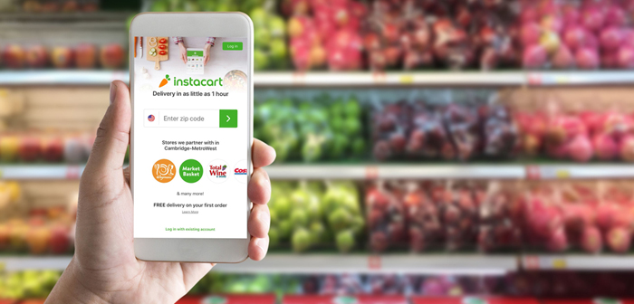 Instacart, home food store, multiplied its business by five during the coronavirus crisis