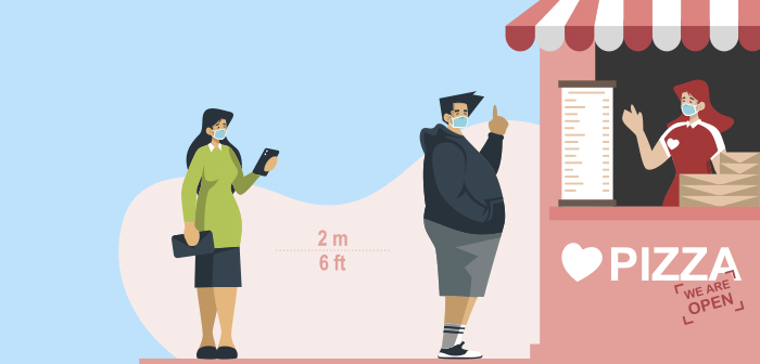 Control queues and social distancing: the new goal of restaurant technology