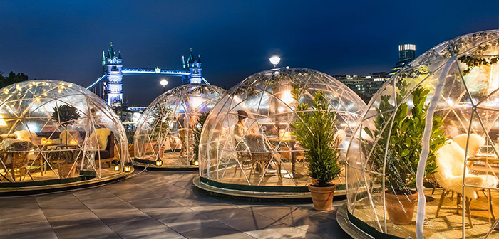 "The ""igloos"" for restaurants make profitable terraces in winter"