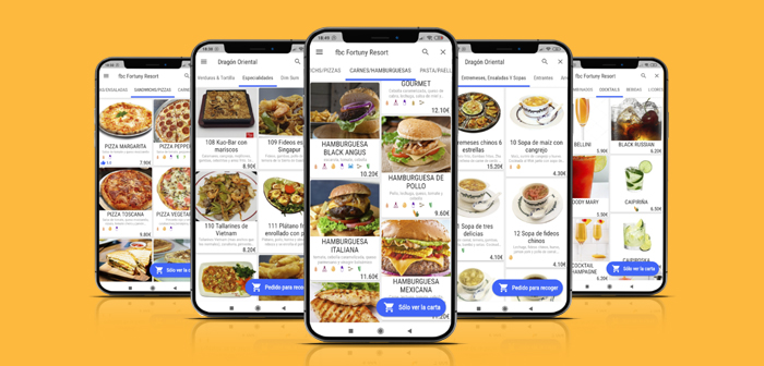 Self-orders are the way in which diners place their orders from the restaurant table (o para delivery o take away) with his mobile as if it were a commandero.