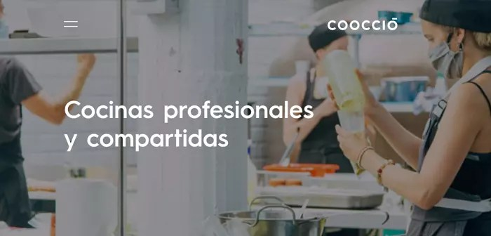 The gastronomic incubator Coocció has buildings prepared to install blind kitchens. Glovo rents them out to sublet them to interested hoteliers.