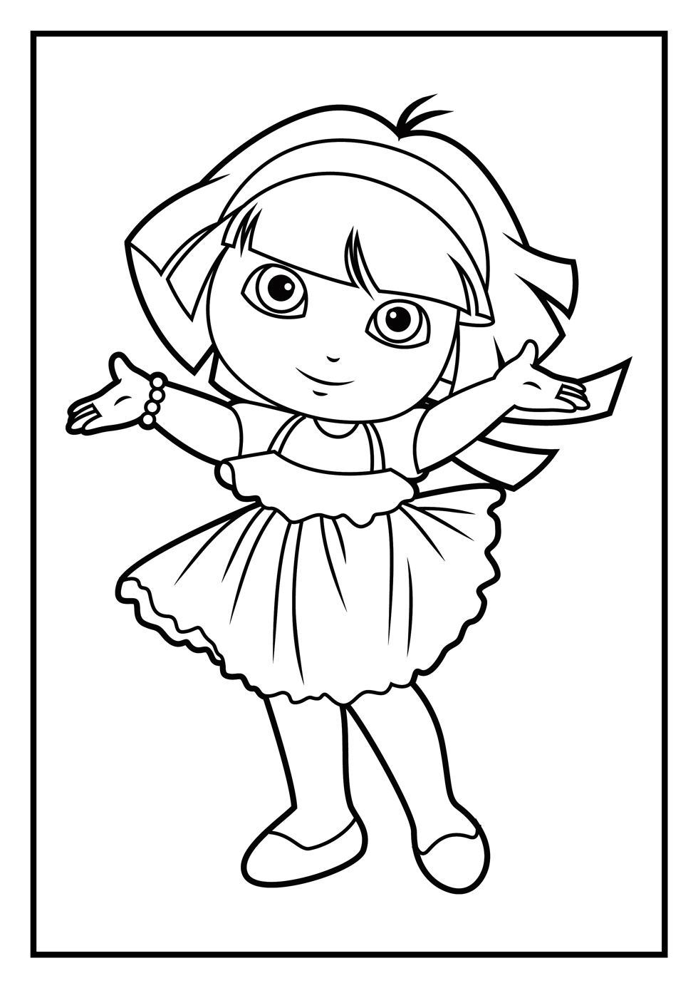 Dora Coloring Pages To Print Free Coloring Pages Download | Xsibe ...