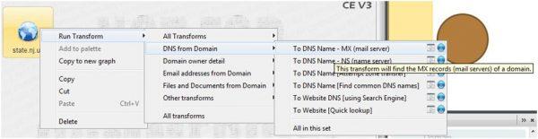 Maltego - All Transforms - DNS MX