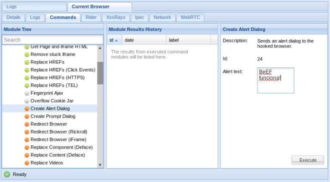 BeEF - Create Alert Dialog