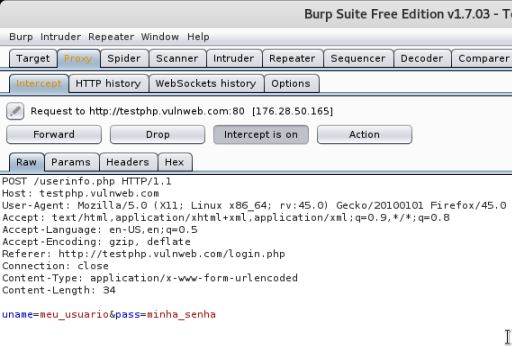 Burp Suite - Captura de credenciais