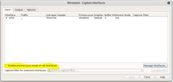 Wireshark - Capture Options