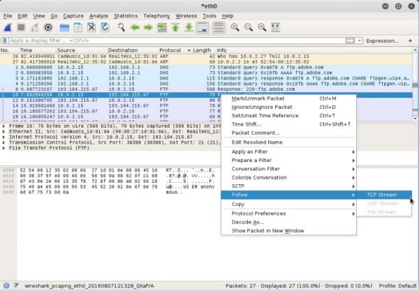 Wireshark - Follow TCP Stream