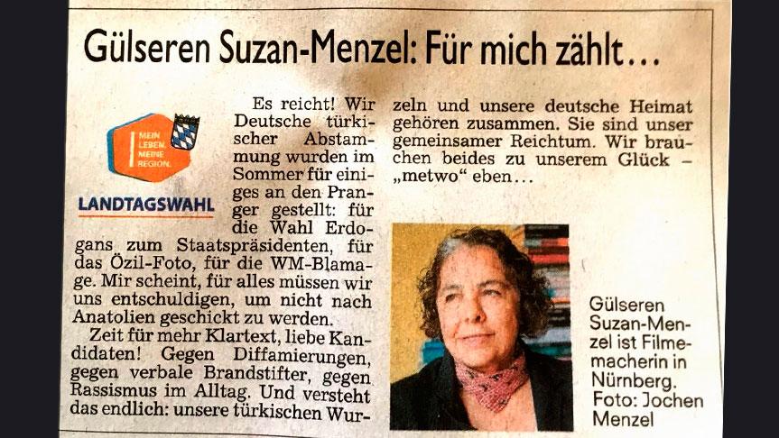 Kuzey Bavyera Kadınlan Kulübü Başkanı'ndan Alman siyasilere çağırı