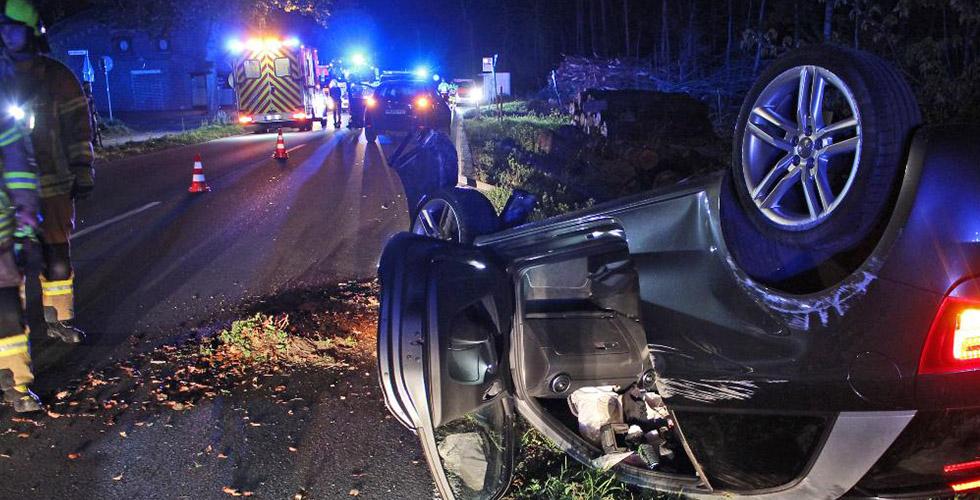 Takla atan aracınkadın şoförü ağır yaralandı