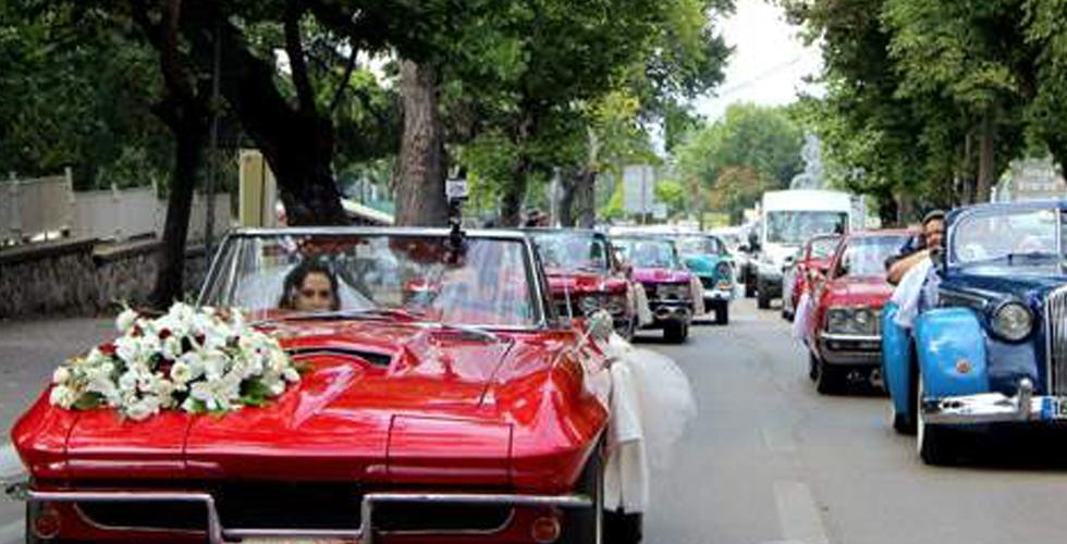 Düğün konvoyuna 1500 Euro ceza