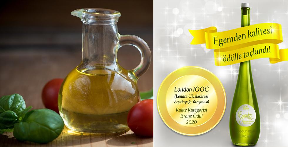 London IOOC'den Egemden zeytinyağına ödül