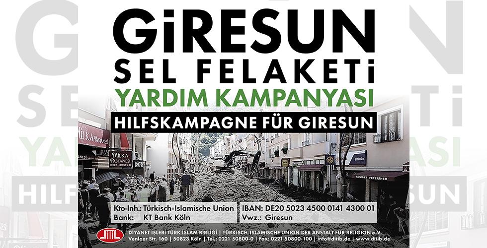DİTİB'den Giresun için yardım kampanyası
