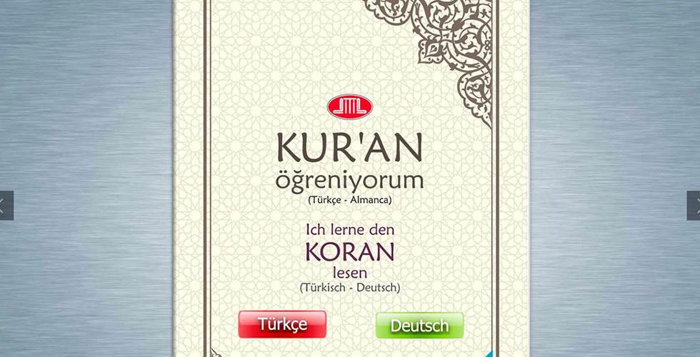 """""""Kuran Öğreniyorum / Ich lerne den Koran lesen"""" elifba dijital ortama taşındı"""
