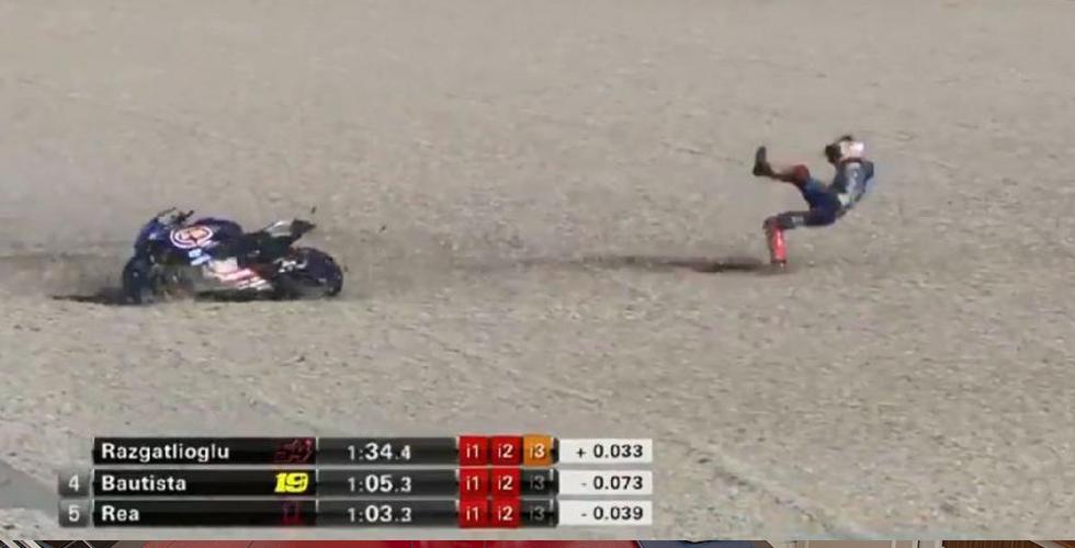 Toprak İspanya yarışında kaza geçirdi