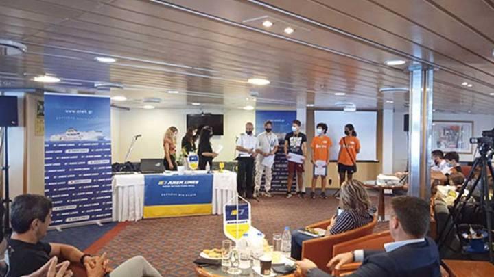 Η ΑΝΕΚ LINES φιλοξένησε με εξαιρετική επιτυχία στο «ΚΡΗΤΗ Ι», την Κυριακή 26 Σεπτεμβρίου, την τελετή βράβευσης των μαθητών, του Κέντρου Εκπαιδευτικής Ρομποτικής & Επιστημών Κρήτης