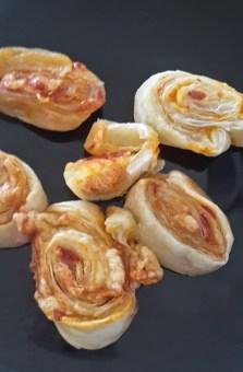 Blätterteig Pizzaschnecken