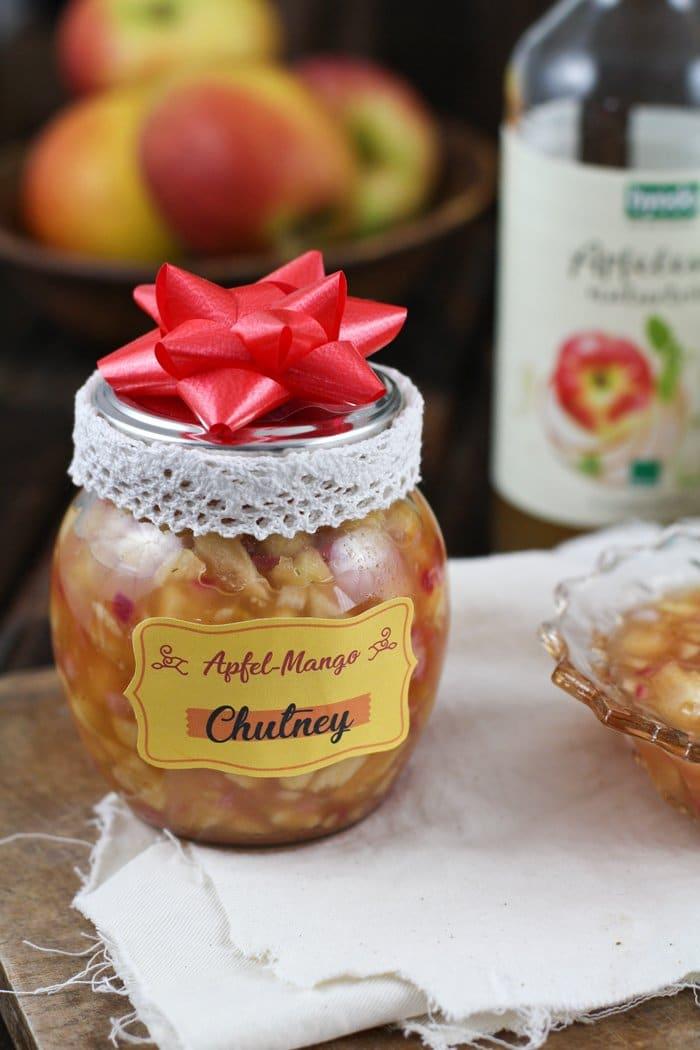Apfel-Mango-Chutney mit Byodo Apfelessig - DIY Geschenk aus der ...
