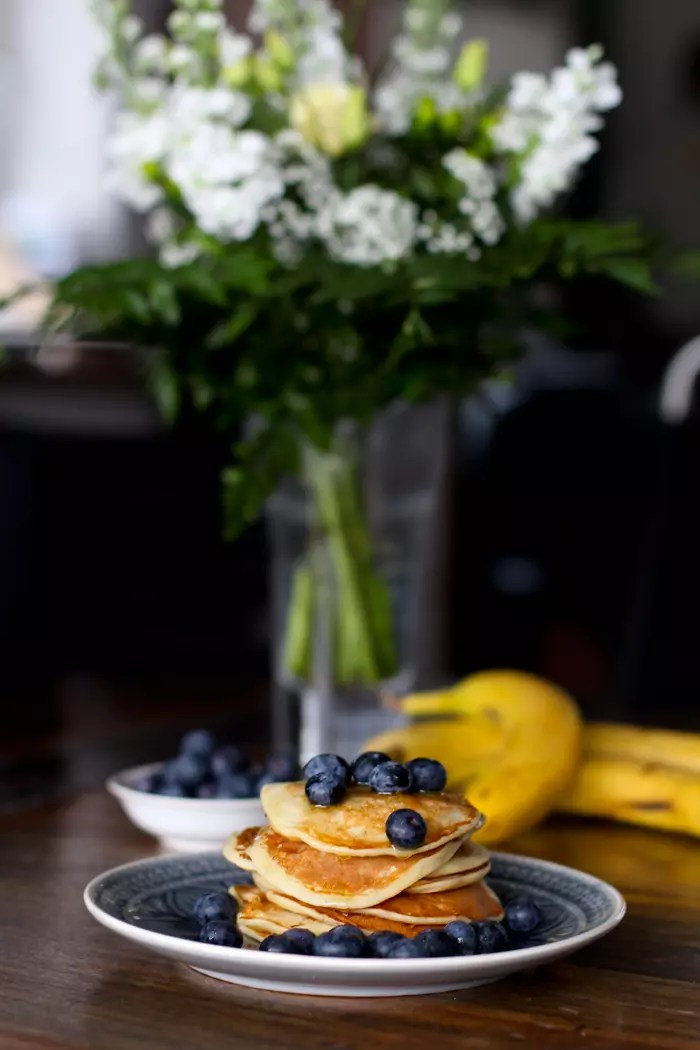 Eiweiß Pancakes Rezept - Pfannkuchen mit Eiweißpulver / Whey für einen sportlichen Start in den Tag