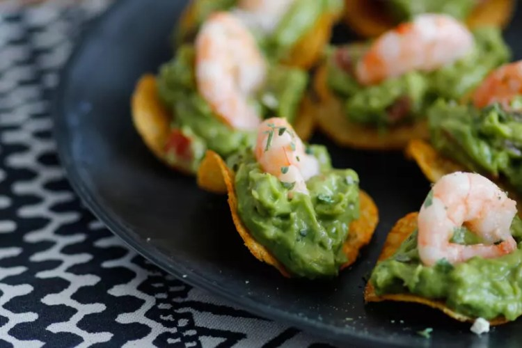 Fingerfood Avocado Garnelen Chips
