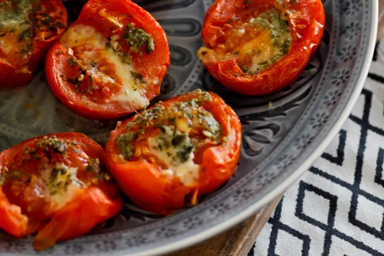 Gebackene Tomaten mit Parmesan