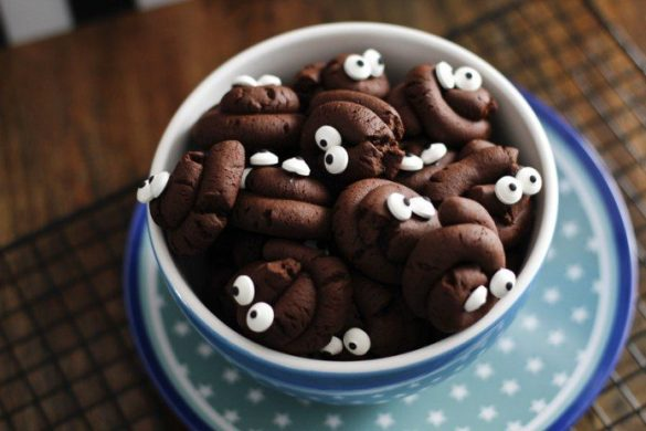 Halloween Kekse Kackhaufen - Süßes für Halloween