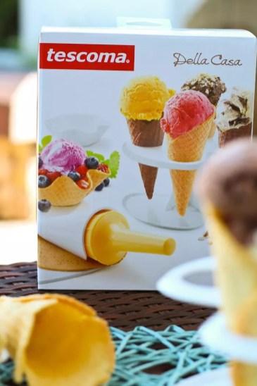 Invert Stracciatella Eis & selbstgemachte Waffeln mit tescoma Waffelset