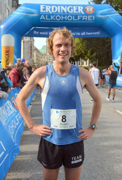 10.09.2017, 28. Barmer GEK Alsterlauf in Hamburg - Fredik Uhrbom, Schweden, stellte neuen schwedischen Rekord in seiner Altersklasse auf.