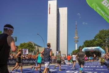 Teilnehmer beim hella Hamburg Halbmarathon 2018; Hamburg, 01.07.18