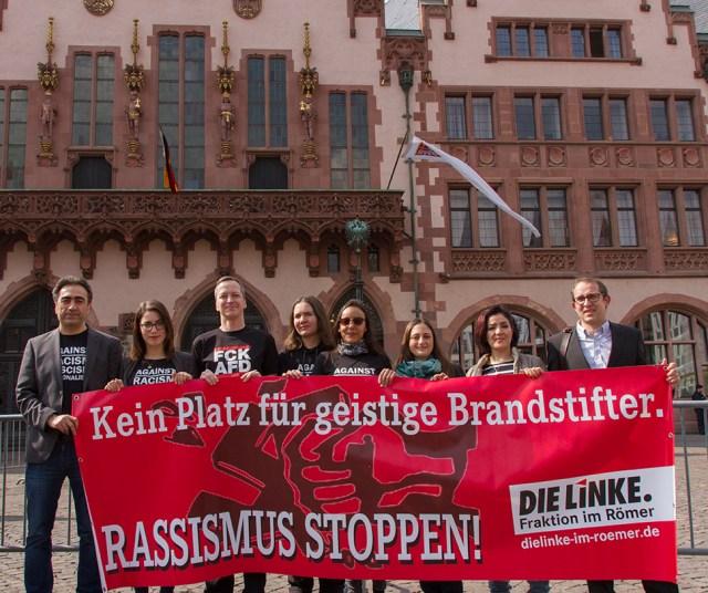 Konstituierende Sitzung Protest