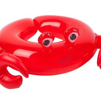 Kinder Schwimmreifen in Form eienr Krabbe in rot. Die Macherei